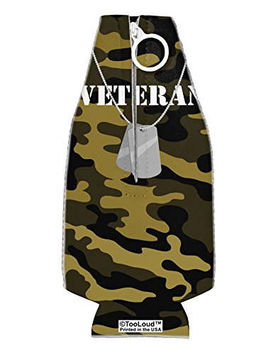 TooLoud Veteran Dog Tags Collapsible Neoprene Bottle Insulator All Over Print]()