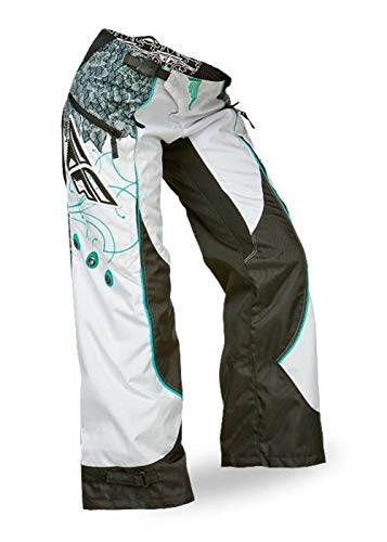 Fly Racing Kinetic Boot-Cut Girls Youth Pants Teal/White (White, - Pant Child Bootcut