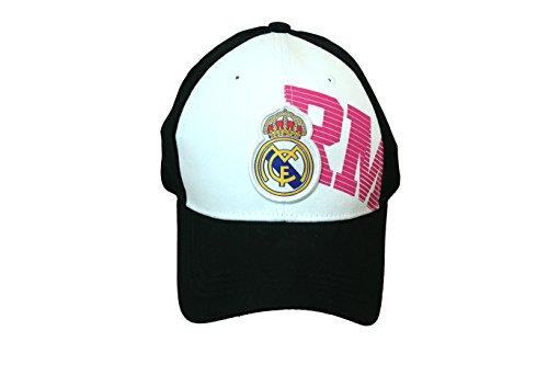 1b92f4733481b REAL MADRID FOOTBALL CLUB OFFICIAL LOGO SOCCER ADJUSTABLE CAP WHITE