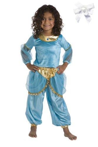 Little Adventures 11193 Turquoise Arabian Princess Jasmine Costume (Ages 5-7) (Jasmine Costume Kids)
