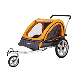 Pacific Cycle InStep Quick N EZ Double Bicycle TrailerOrange/Gray