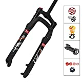 MDZZ 26er MTB Fork Suspension Aluminum Bicycle Fork Air Suspension Disc Fork 120mm Travel, Mountain Fat Bicycle Fork 26x4.0