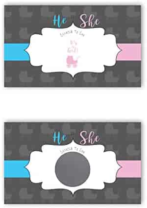 Baby Carriage - It's a Girl! - Gender Reveal Scratch Off Cards - 25 Pack - My Scratch Offs
