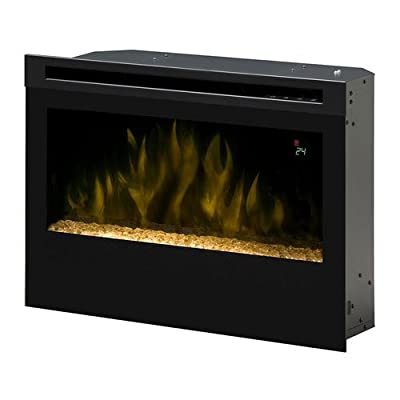 Dimplex PF2325CG Electric 25-Inch Firebox with Glass Ember Bed, Black