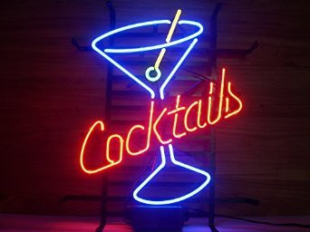 New Larger Cocktails Martini Neon Light Sign 20''x16'' L38(No More Long Waiting for WEEKS/MONTHS with Fast Shipping From CA With FREE USPS Priority Mail)