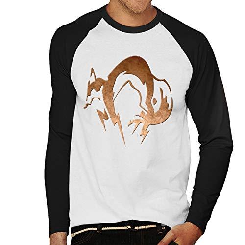 (Foxhound Symbol Dirty Brass Metal Gear Solid Men's Baseball Long Sleeved T-Shirt)