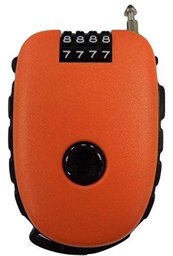 Bosvision Misez à 4 chiffres Serrure à combinaison avec 3 pieds câble rétractable pour vélo, ski, snowboard et poussette