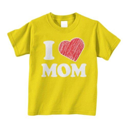 Threadrock Little Boys' I Love Mom Toddler T-Shirt 3T Yellow