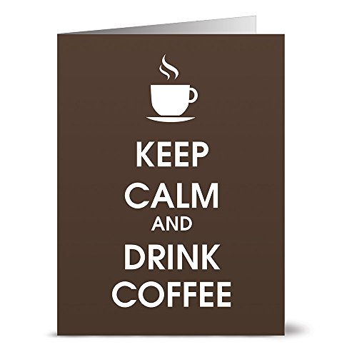 Keep Calm and Drink Coffee - 36 Note Cards - Blank Cards - Kraft Envelopes Included