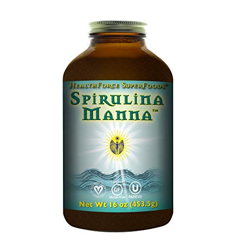 HealthForce SuperFoods Spirulina Manna, All-Natural Nutrient-Rich Superfood, Vitamins, Minerals, Amino Acids, Organic, Vegan, Gluten-Free, Non-GMO, 16 Ounces Powder