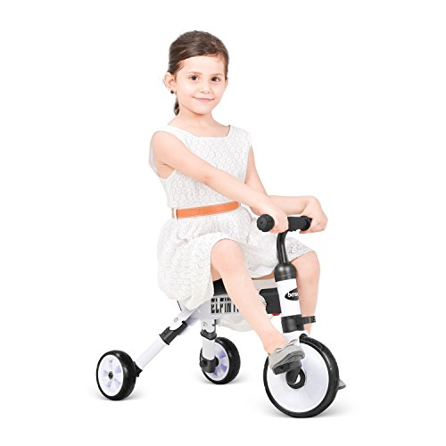 besrey Toddler Tricycle 2 In 1 Trike Baby Balance Bike Foldable Kids Riding Toys for Ages 12 Months Old and up Boys or Girls by besrey (Image #3)