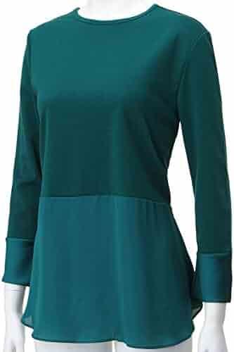 REGNA X Women's Round Neck Long Sleeve Soft & Stretch Tops (4 STYLES/XS-3XL)