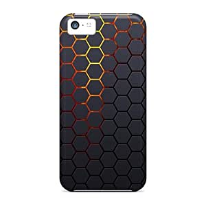 New BOs5684BPyU Hexagonal Grid Background Skin Case Cover Shatterproof Case For Iphone 5c