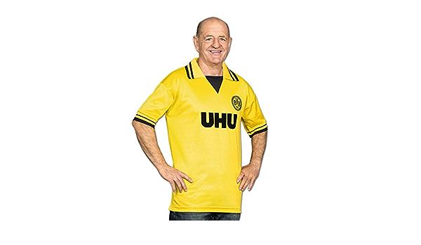 BVB – Camiseta retro UHU amarillo X-Large: Amazon.es: Ropa