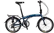 "Wonder-8-SP - SOLOROCK Aluminum 8 Speed 20"" Folding Bike - V B"