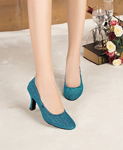 Miyoopark 8cm femme bal heel Salle Blue de qrwPq1g
