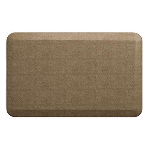 Newlife By Gelpro Anti Fatigue Designer Comfort Kitchen Floor Mat  20X32   Pebble Wheat Stain Resistant Surface With 3 4  Thick Ergo Foam Core For Health And Wellness