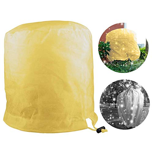 Cylindrical Freeze Protection Plant Covers Winter,Shrub Frost Protection Plant Covers Jacket with Drawstring,Tree Protector Wrap,Gardening Protecting Bag