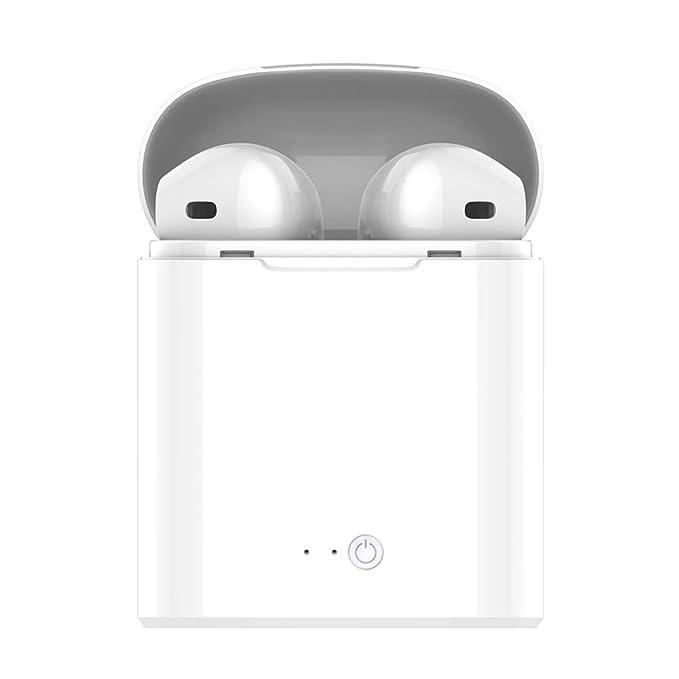 Auricular Bluetooth, Mini Auricular inalámbrico estéreo, Manos Libres, reducción de Ruido, 8 parlantes 8plus 7 7plus 6S Smartphone Samsung Galaxy S7 Android ...