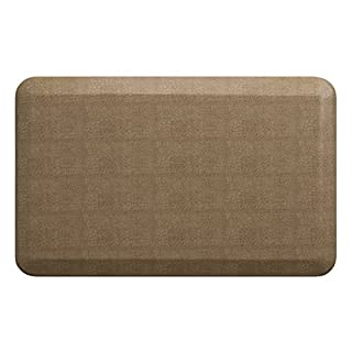 "NewLife by GelPro Anti-Fatigue Designer Comfort Kitchen Floor Mat, 20x32"", Pebble Wheat Stain Resistant Surface with 3/4"" Thick Ergo-foam Core for Health and Wellness"
