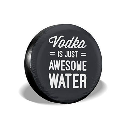 (KUHUAN Vodka is Just Awesome Water Dust-Proof Spare Tire Cover for Jeep,Trailer,RV,SUV,Truck and Other Vehicles (14,15,16,17 Inch))