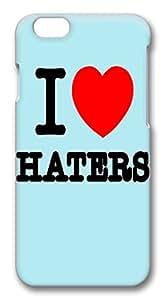 "ICORER iPhone 6 Case Lastest iPhone 6 Cases, I Love Haters 3D Design PC Hard Plastics Case for Apple iPhone 6(4.7"")"
