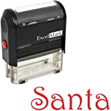 Self-Inking Christmas Rubber Stamp - Santa Signature - Red Ink