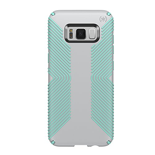 Speck Products (90257-6249) Presidio Grip Cell Phone Case for Galaxy S8 Plus - Dolphin Grey/Aloe Green