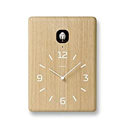 Lemnos Cucu Cuckoo Wall Clock with Light Sensor Natural