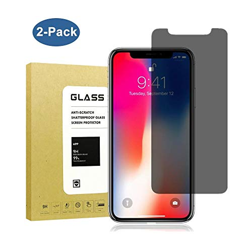 [2Pack] for iPhone X/XS Privacy Screen Protector,Datoch[Full Coverage][9H Hardness][3D Touch] Tempered Glass Anti-Spy Screen Protector for iPhone X/iPhone Xs