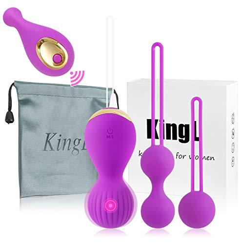 Kegel Exercise Weights - Kegel Balls Ben Wa Balls Pleasure Bullet for Women Beginners 2 in 1 & Advanced Vibration- Doctor Recommended Bladder Control & Pelvic Floor Exercises ...