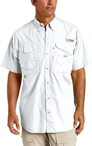 Columbia Men's Bonehead Short-Sleeve Work Shirt, White, 3XL