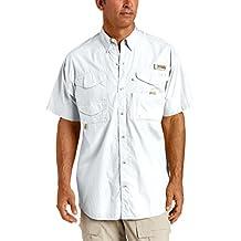 Columbia Men's Bonehead Short-Sleeve Work Shirt, White, 3XL