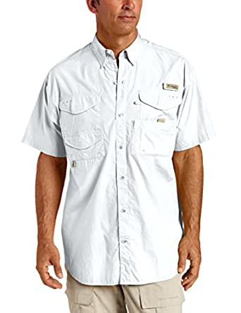 Columbia Men's Bonehead Short Sleeve Shirt Big,White,1X