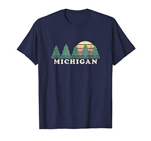 (Michigan MI T-Shirt Vintage Graphic Tee Retro 70s Design)