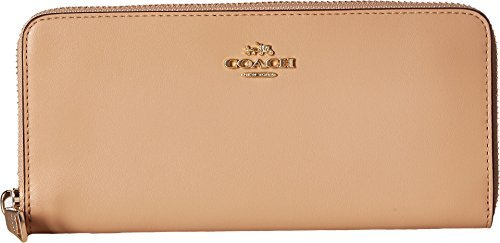 COACH Women's Slim Accordion Zip Wallet in Smooth Leather Li/Beechwood One Size