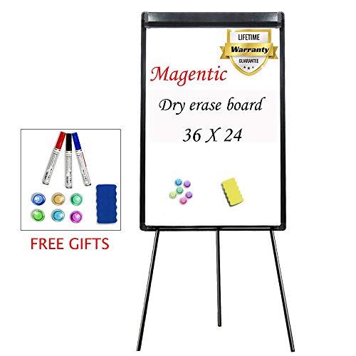 Stand White Board 36 x 24 Magnetic Dry Erase Board Tripod Easel Board Portable ()