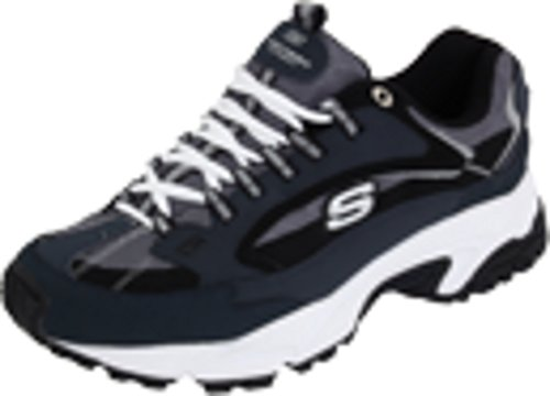 Skechers Sport Men's Stamina Nuovo Cutback Lace-Up Sneaker,Navy/Black,12 XW US by Skechers