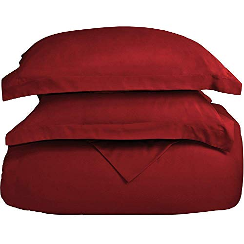 Sona Bedding Solutions,5 Pc Organic Cotton Bedding Set,(Flat Sheet+Fitted 20''+Duvet/Comforter Cover+2 Pillowcases),1000 TC, Luxurious & Comfortable, Red, Twin XL