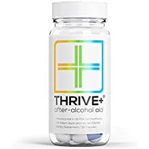"After-Alcohol Aid by Thrive+ | As Seen on Shark Tank - A ""Vitamin"" for Healthier & Happier Alcohol Consumption (30 Capsules) - For Fast Alcohol Detox & Recovery After Drinking Alcohol."