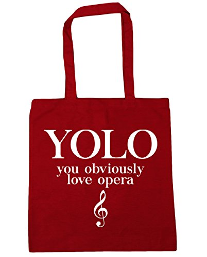 Gym Opera Love HippoWarehouse litres YOLO Shopping Red Beach Tote Obviously You 42cm x38cm Bag 10 Classic wtw0rqAI