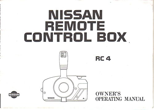 Owner's Manual Operating Guide for Nissan Marine Outboard Remote Control Box RC 4