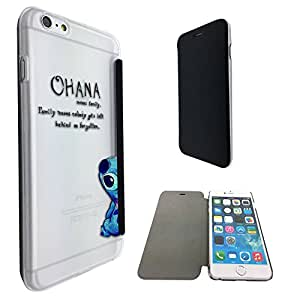 c0036 - Ohana Family Meaning Fun Cool Design iphone 6 6S 4.7'' Fashion Trend Funky Smart Clear Plastic & TPU Flip Case Full Cover Purse Pouch Defender Book Case