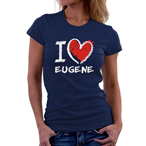 I love Eugene chalk style Women T-Shirt (Stores In Eugene Or)