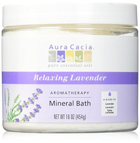 (Aura Cacia Mineral Bath Relaxing Lavender)