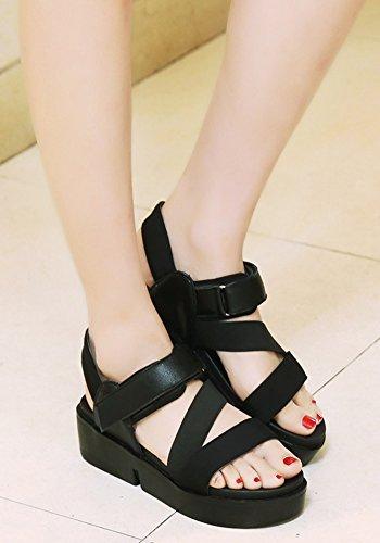 Plates Scratch Noir à Femme Piscine Aisun Fille Chaussures Sandales Mode w6RXtqqAx