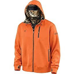 Legendary Whitetails Men\'s Double Time Hoodie w/Built In Balaclava Brnt Orng Large