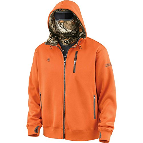 Legendary Whitetails Men's Double Time Hoodie w/Built In Balaclava Brnt Orng X-Large
