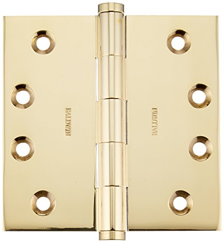 (Baldwin 1040031I Square Mortise Hinge, Unlacquered Bright)