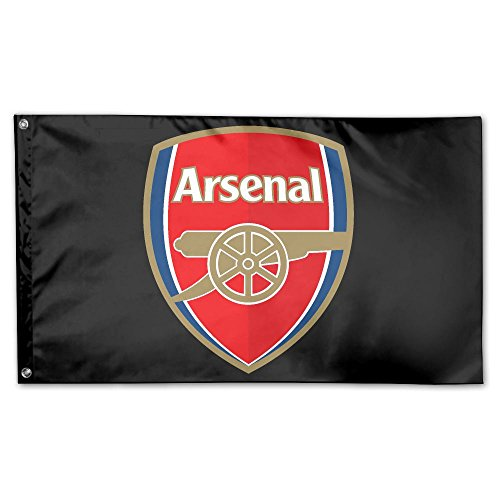 GNJY Arsenal Soccer Flag Fly Breeze -Polyester- Flags With Brass Grommets 3 X 5 FT (Arsenal Flag)